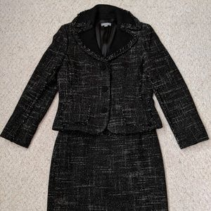 Ann Taylor Tweed 2 Piece Suit Womens 8P